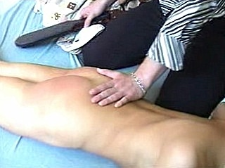 wonderfully Blonde Paddle Spanking