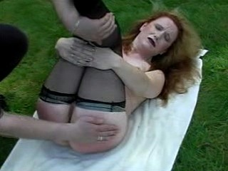Sexy Babe alfresco Spanked