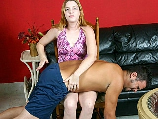 Blonde Babe Spanking Her Lover